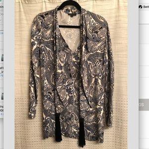 Rachel Zoe Long Sleeve Pastel Print Dress NEW!